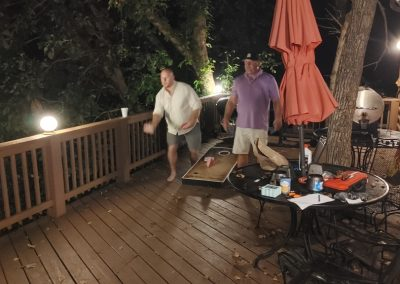 Jimmy & Cody going at it in Corn Hole!