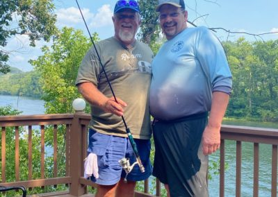 Jeff & Gaylon checking out the ODT's fishing pole giveaway!